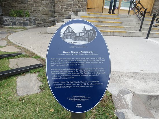 Banff Visitor Information Centre: Interesting history about the building