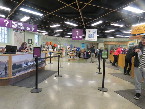 Banff Visitor Information Centre: A big space for all the visitors