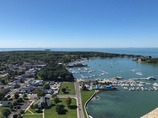 view of the town of put in bay and the harbor picture of perry s rh tripadvisor com