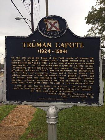 Truman Capote Historical Marker