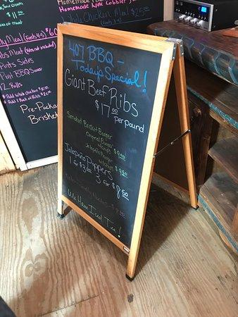 Argyle, TX: Specials Menu - Beef Ribs!