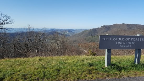 Pisgah National Forest: Overlook from Blue Ridge Pkwy - Cradle of Forestry is down in the valley of Brevard.