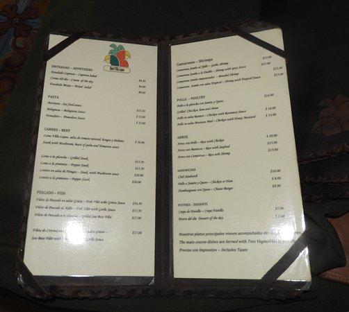 Hotel Villa Lapas: A La Carte Menu