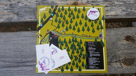 Divcibare, Σερβία: Mappa del Mountain Music Festival