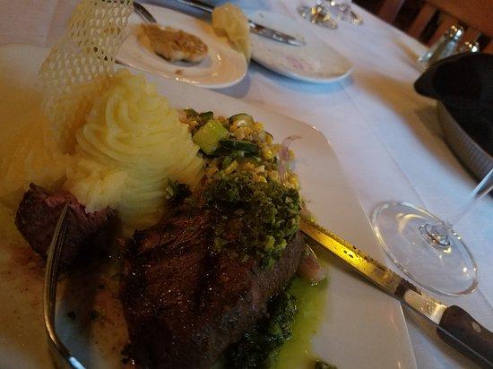Collage Restaurant: YUMMY Potatoes and 8 oz tenderloin