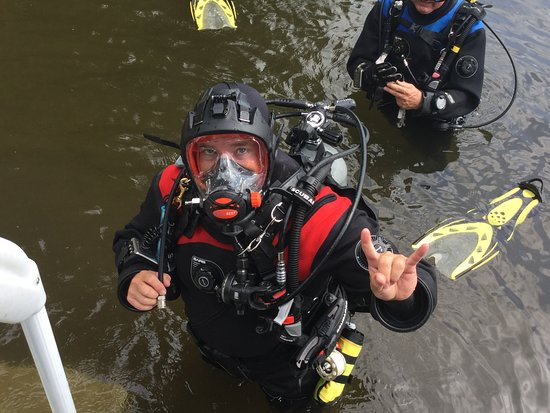Omemee, Canada: Diving with a full face mask