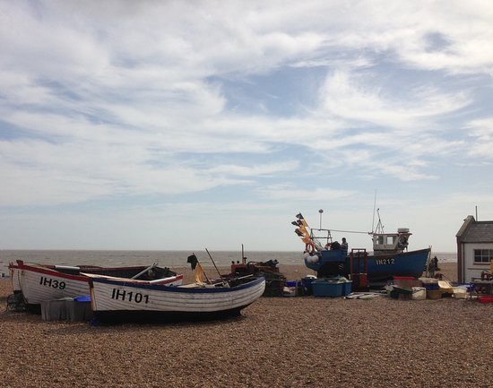 What do the words say? - Picture of Aldeburgh Beach
