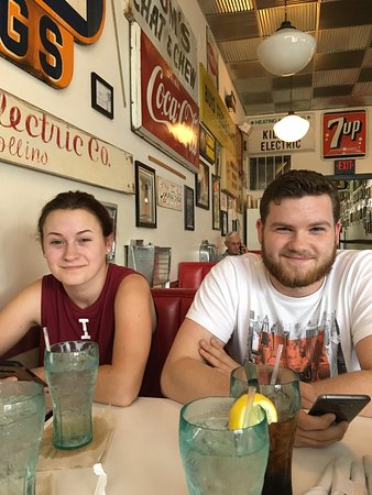 Clay City, IN: My grandson Payton and his girlfriend Aspen enjoying a lunch!