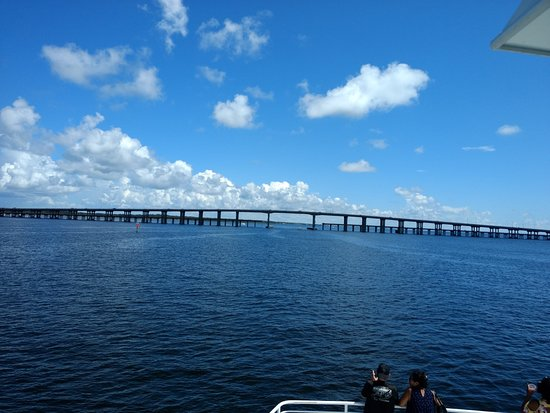 Pensacola Bay Cruises Roach Under The Bob Sykes Bridge And Fishing Pier For Gulf Breeze