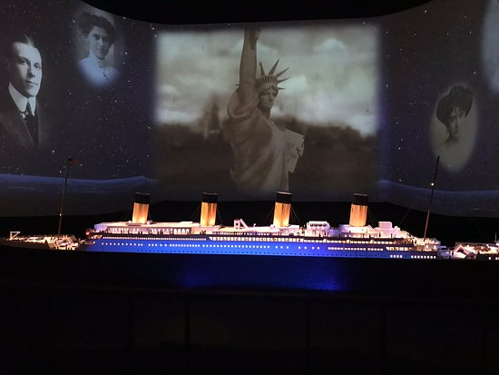 Titanic Museum Attraction: A painting of the Titanic.