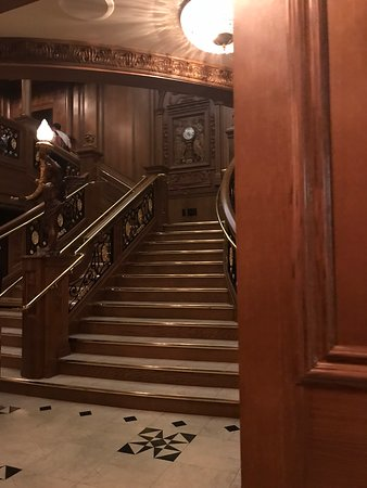 Titanic Museum Attraction: Recreation of the grand staircase.