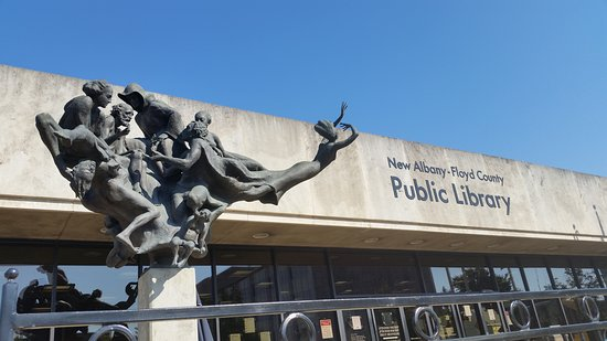 New Albany-Floyd County Public Library: Library Sculpture