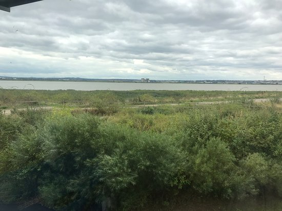 Purfleet, UK: View from the coffee shop