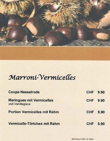 เอเกอร์คินเกน, สวิตเซอร์แลนด์: Vermicelles