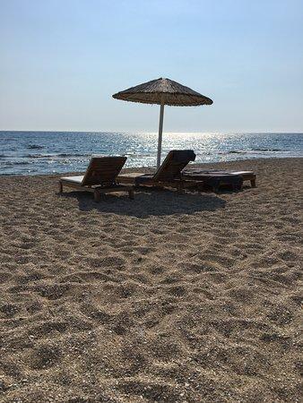 Kanali, กรีซ: The hotel beach.