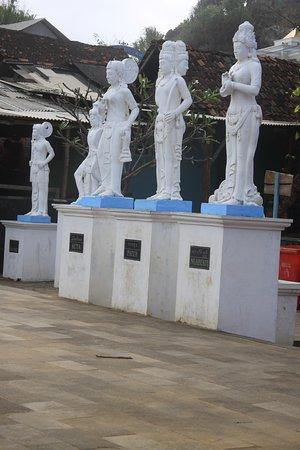 White Goddess statues