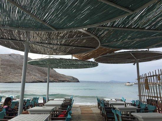 Pserimos, Greece: View to the beach