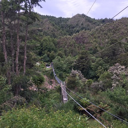 Worth stopping to walk the swing bridge