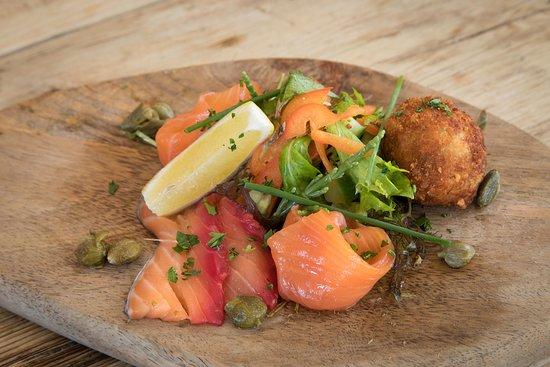Stoke Fleming, UK: Trio of Salmon