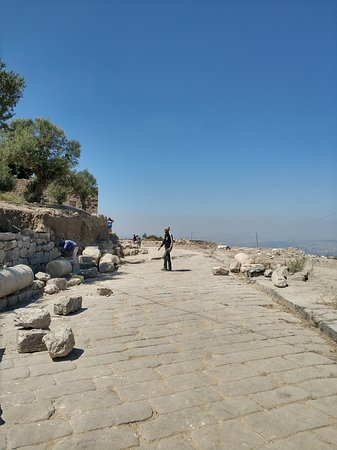 Umm Qais, Jordan: Paved road - Curve ahead