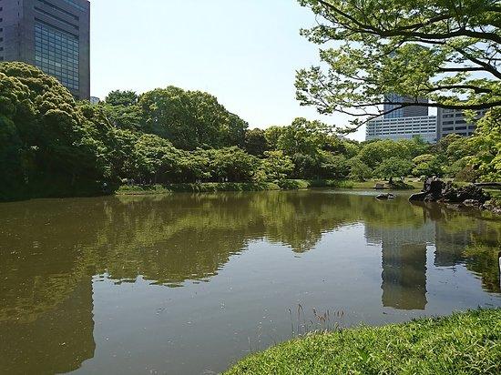 Koishikawa Korakuen Garden: 琵琶湖を模した大泉水