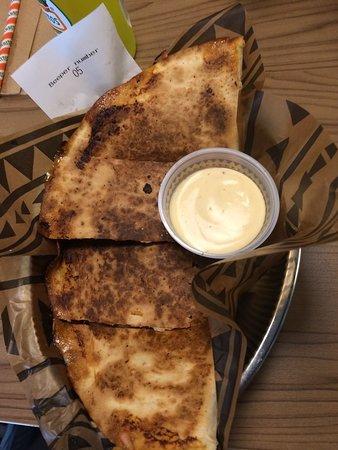 Zocalo - Fresh Happy Mex: quesadilla with chicken