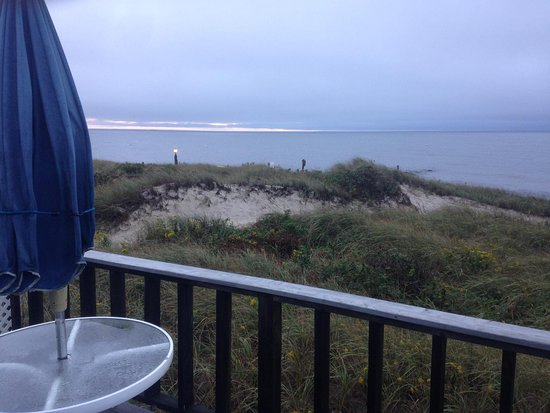 South Chatham, MA: Blick vom Balkon im Zimmer 2