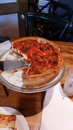 Giordano's: Small, meat deep dish pizza