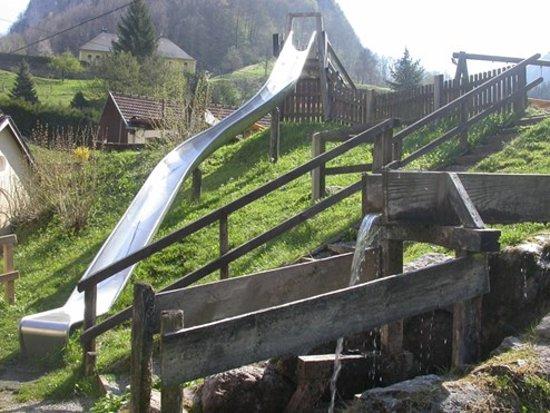 Ternberg, Austria: Wasserpielplatz bei der Jausenstation Drah Hüttn