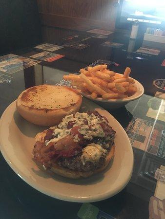 Cajun Bacon Bleu Cheese Burger