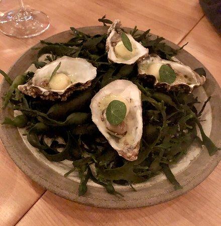 Restaurang Ekstedt: Nice amuse: a pampered oyster!