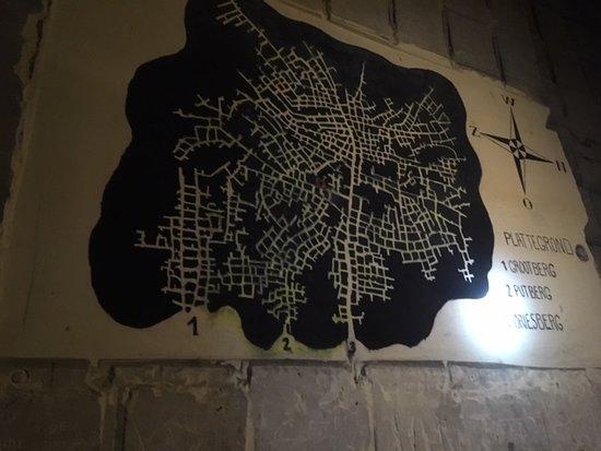 Kanne, Βέλγιο: Landkaart van het gangenstelsel