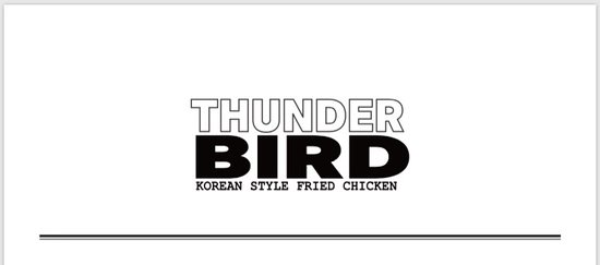 Thunderbird korean fried chicken: Logo