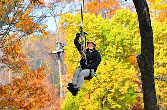 Laurel Highlands, PA: Soar through fall foliage at Seven Springs Mountain Resort