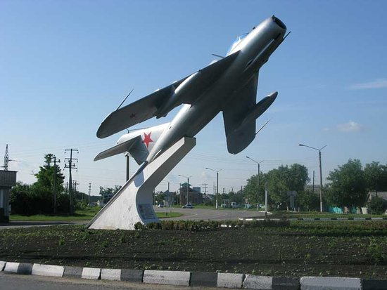 MiG-15 Monument to the Pilot V.G. Serov
