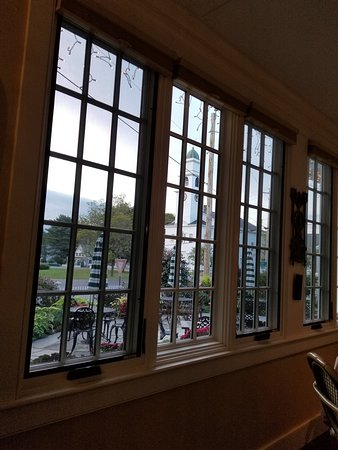 Lyme, NH: View from frint dining room across green