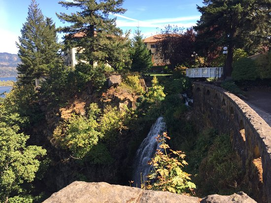 the walkway outsid of the hotel over a waterfall picture of rh tripadvisor com