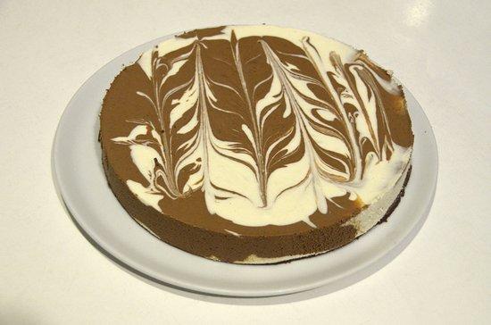 Villaverde de Íscar, España: Tarta de queso y chocolate