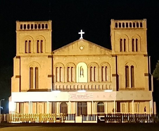 Notre-Dame of Bangui Cathedral: Nightview of Notre Dame Cathedral