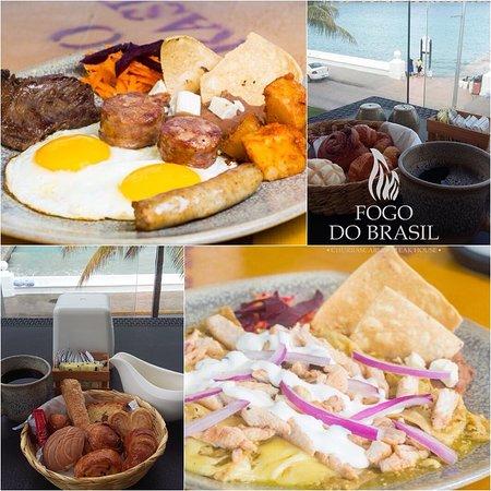 Fogo do Brasil Cozumel, cuenta con desayuno que van desde $80.00pesos por persona.
