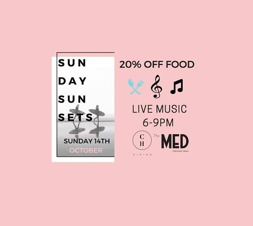 Crescent Head, Australia: Sunday Sunsets - Live Music, 14th October from 6-9pm