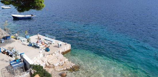 Pasadur, Croatia: water level seating