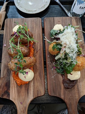 Willie Smith's Apple Shed: Hasselback potatoes and cheese balls