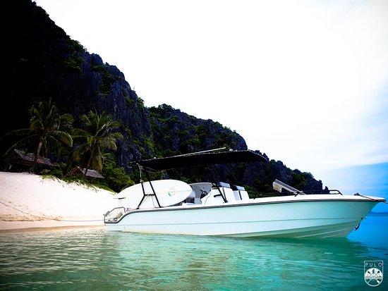 Корон, Филиппины: Speed boat tours in Black Island