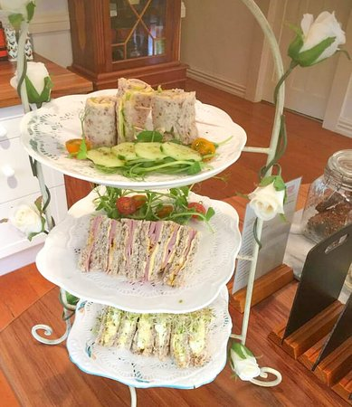 Rainbow Falls Tea House: High Tea - vegan and vegetarian options available