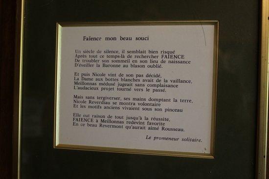 Meillonnas, فرنسا: Faïence de Meillonnas - Nicole Reverdiau et son fils - Atelier, Exposition, vente 