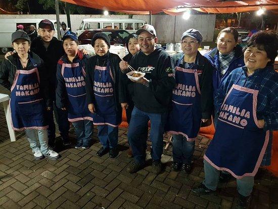 Barraca da Feira do Produtor que acontece em Faxinal PR, da família Nakano, top, top, top!!!