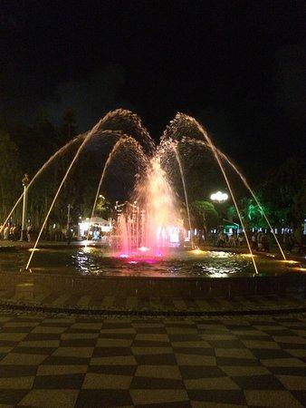 Музыка и фонтан