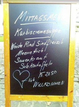 ชตันส์, สวิตเซอร์แลนด์: Mittagsmenue vom 04.10.18