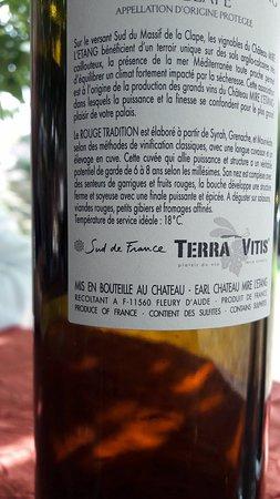 Saint Lieux les Lavaur, Francia: l'excellente 1/2 bouteille de La Clape.